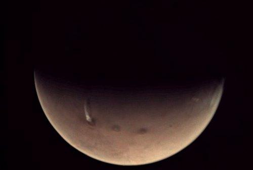 Penacho visto en Marte el 18 de octubre
