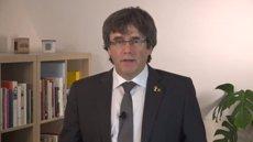 """Puigdemont, sobre si Iglesias va parlar amb ell en nom del Govern espanyol: """"Ni ho pretenia, ni podia fer-ho"""" (TWITTER CARLES PUIGDEMONT - Archivo)"""