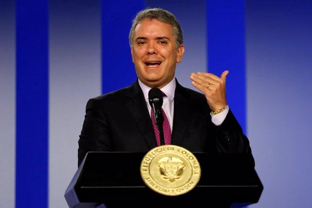 El presidente de Colombia, Iván Duque