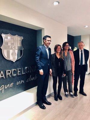 El FC Barcelona i l'IRL acorden projectar el català a l'exterior (IRL)