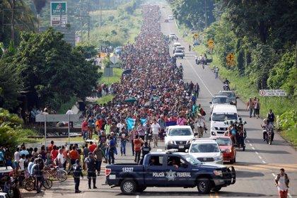 El secretario de Gobernación de México asegura que al menos 5.000 migrantes han entrado al país