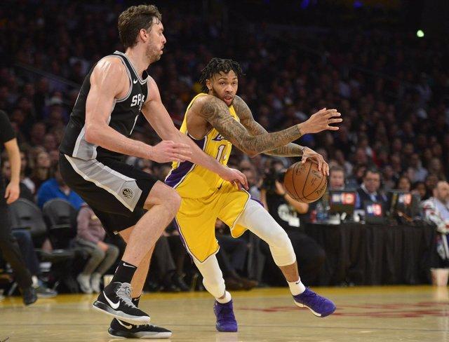 Pau Gasol en el San Antonio Spurs - Los Angeles Lakers