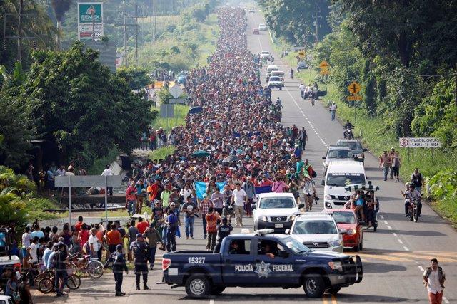 Caravana de inmigrantes, Tapachula