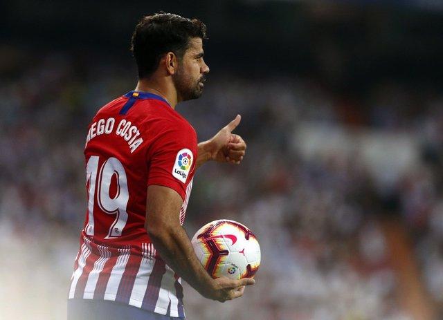 El jugador del Atlético de Madrid, Diego Costa