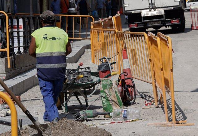Imatge d'un treballador