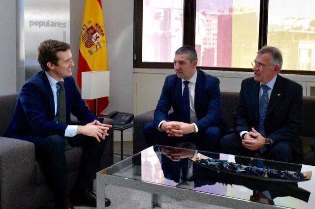 Reunión Pablo Casado con FEDE