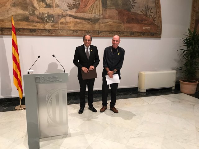Pres. Quim Torra, Lluís Llach (pte.Consell assessor pel Fòrum Cívic)