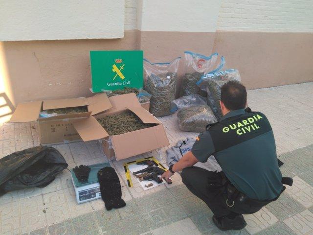 Marihuana intervenida en una operación en Granada