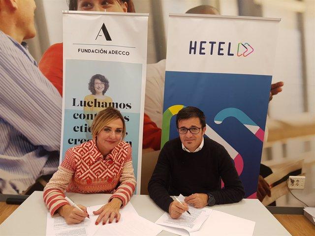 Acuerdo Fundación Adecco y HETEL