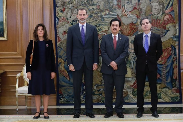 El Rey Felipe VI se reúne con el presidente del Parlamento Centroamericano (PARL