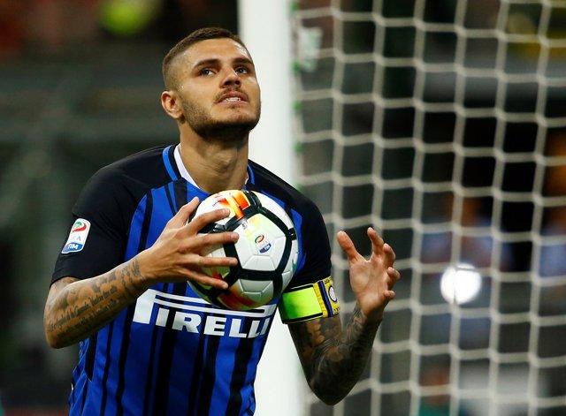 Mauro Icardi celebra un gol con el Inter