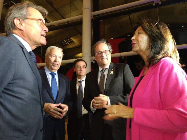 Artur Mas, Quim Torra i Antoni Abad, en la Nit de l'Empresari de la Cecot