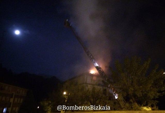 Incendio en Arrigorriaga