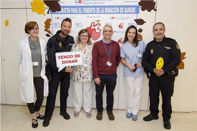 Donación de sangre en el Hospital Gregorio Marañón