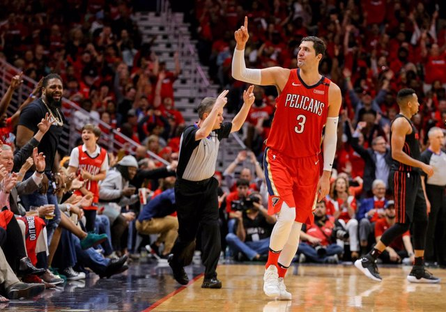 Nikola Mirotic en el Pelicans - Blazers