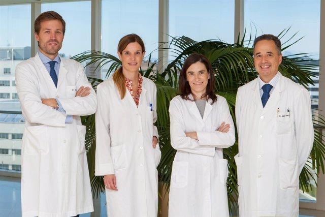 Equipo investigador de la terapia contra tumores cerebrales