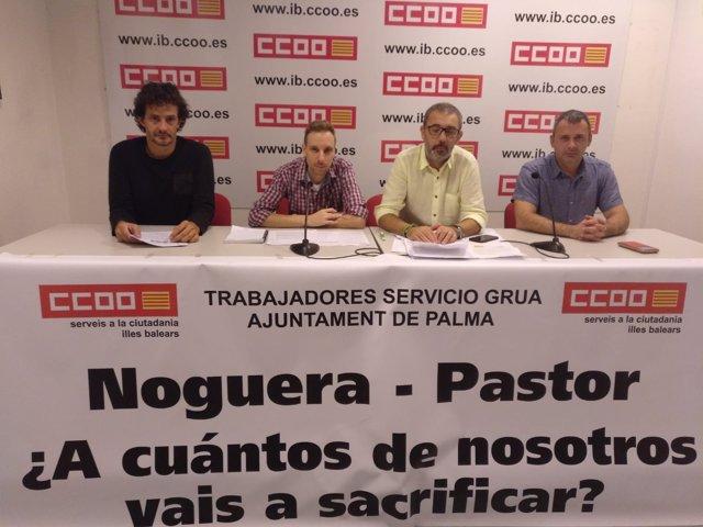 CCOO interpone unr recurso por el servicio de grúa municipal