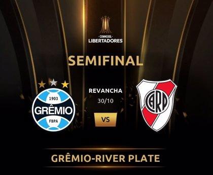 Gremio vence a River en la ida de las semifinales de la Libertadores