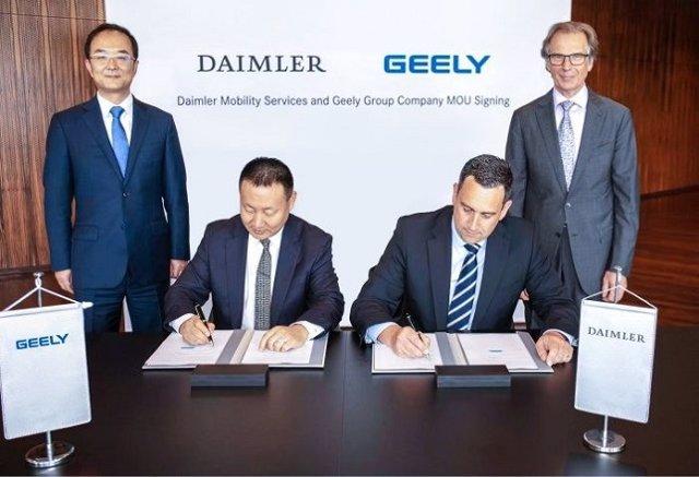 Daimler Mobility y Geely Group crean un servicio de transporte en China