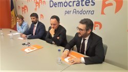 Roser Suñé, Esteve Vidal, Xavier Espot, Eric Jover (Demòcrates per Andorra)