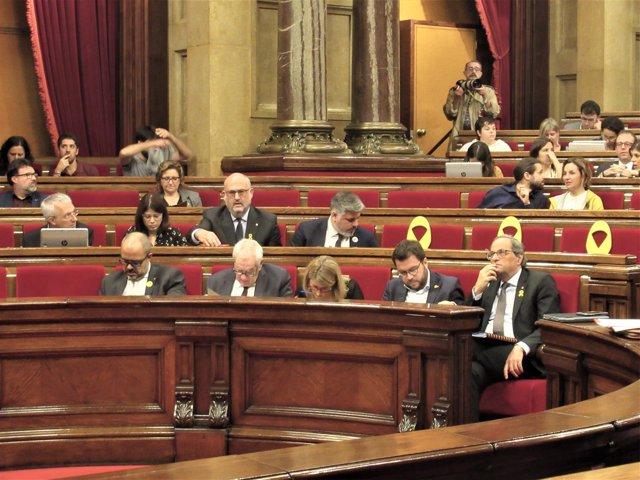 Pleno del Parlament: bancada del Govern