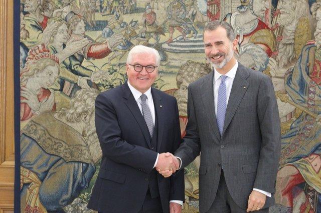 El Rey Felipe VI y el presidente de la República Federal de Alemania, Frank-Walt