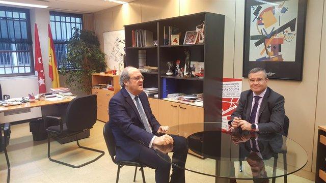 Reunión entre Ángel Gabilondo y Guillermo Hita en la FMM
