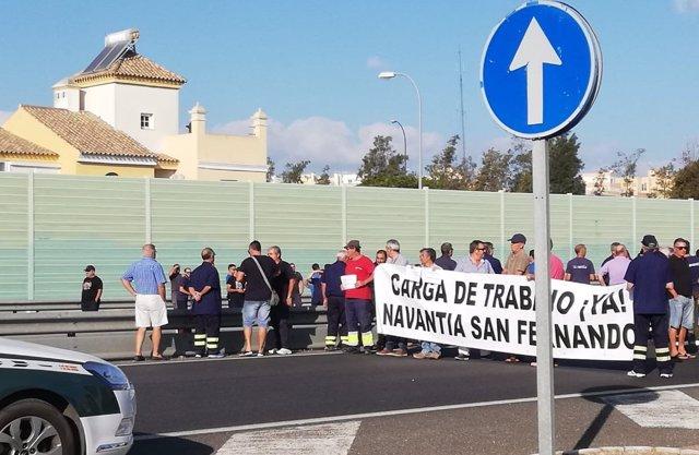 Trabajadores del astillero de San Fernando agradecen la