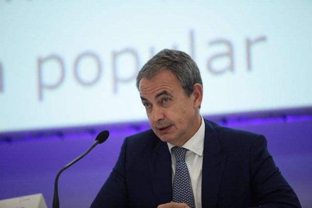 José Luis Rodríguez Zapaero participa en una congreso sobre asistencia personal