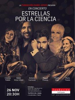 Cartel promocional del 10º aniversario de la Fundación Isabel Gemio
