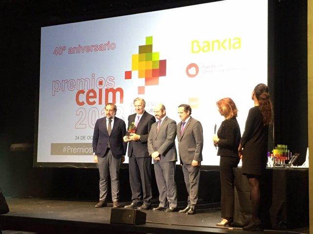 Entrega de premios de CEIM con motivo de su 40 aniversario