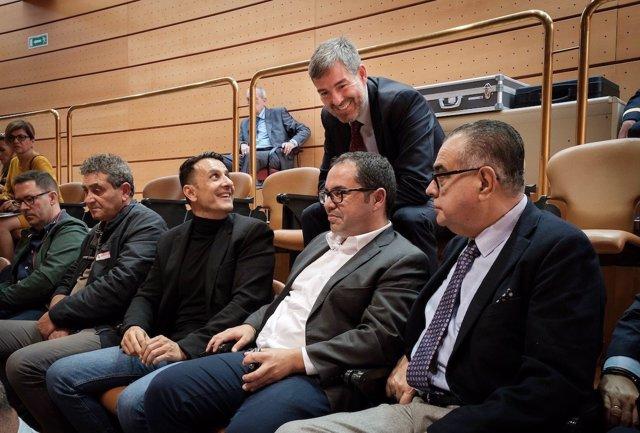 El presidente de Canarias, Fernando Clavijo, en la aprobación del Estatuto