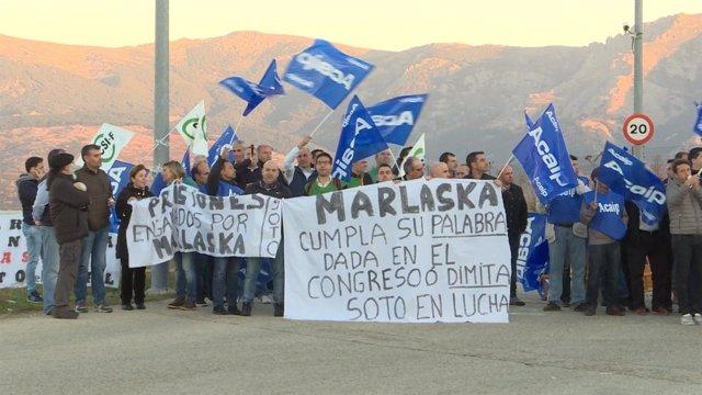 Primera jornada de huelga de funcionarios de prisiones.
