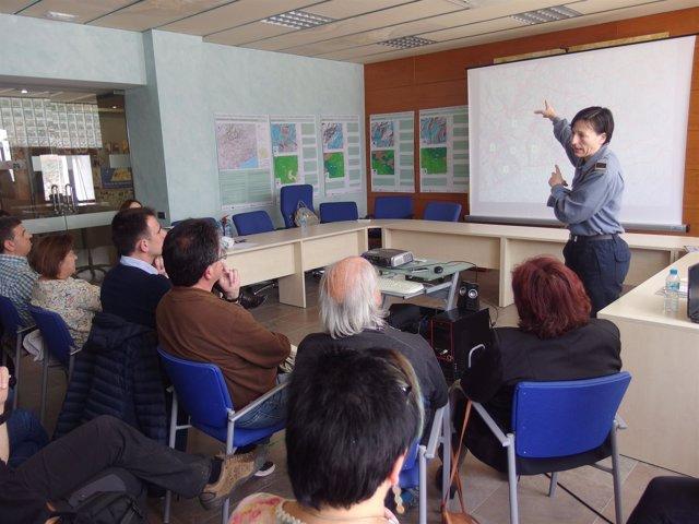 Una sesión participativa del proyecto piloto en el Montseny
