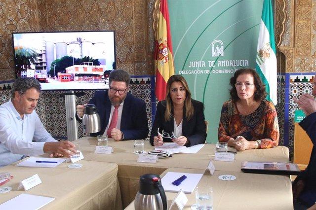 Díaz en su reunión en Almería con el comité de empresa de Cemex