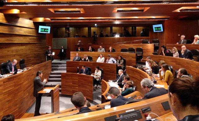 El presidente del Principado, Javier Fernández, interviene en el debate
