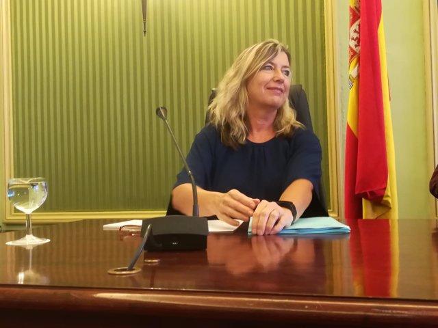 La consellera de Salud, Patricia Gómez, al inicio de la comparecencia
