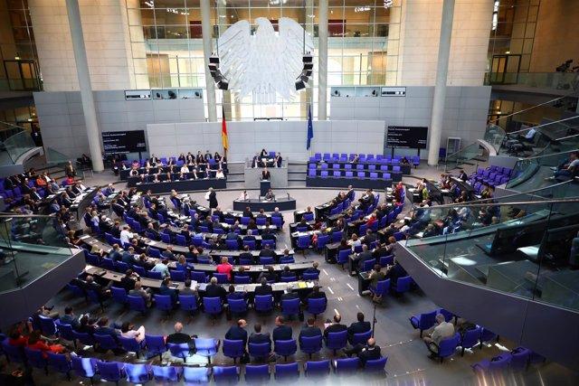 Imagen del Bundestag en sesión, Alemania