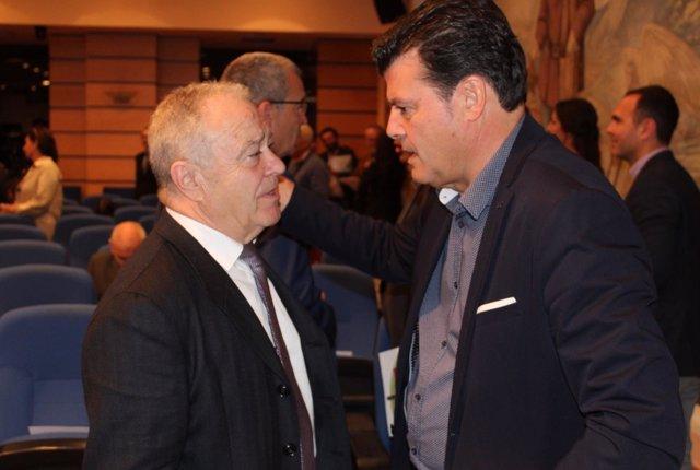 Miguel Gracia y Javier Allué en el Foro Nacional de Despoblación