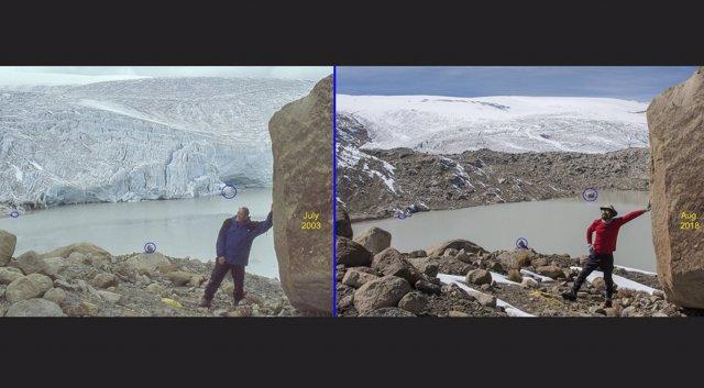 Retroceso del hielo en Quelccaya