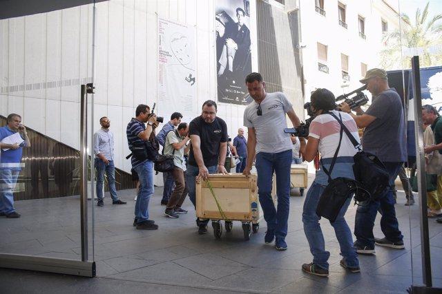 Llegada del archivo histórico del legado de Lorca