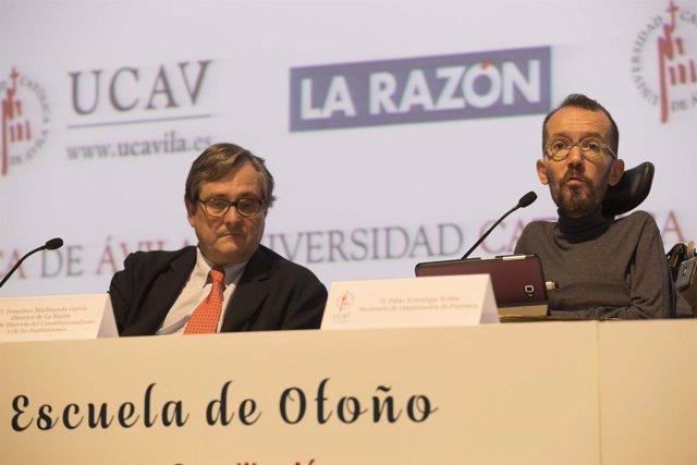 Pablo Echenique participa en la Escuela de Otoño de la Universidad Católica de Á
