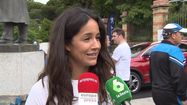 """Begoña Villacís durante la carrera """"Hay Salida"""""""