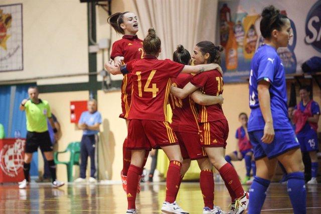 La selección española de fútbol sala femenina