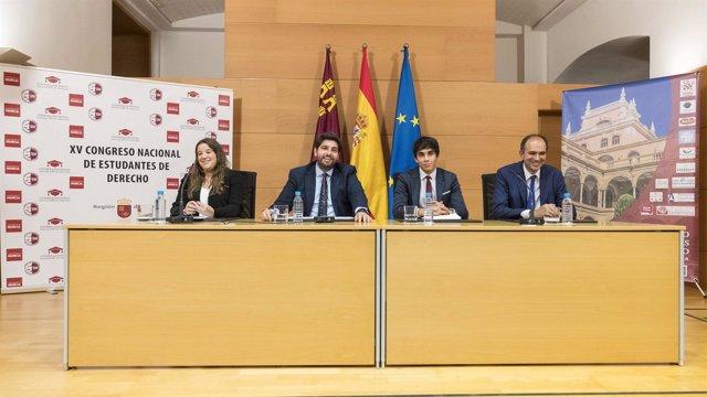 Miras inaugura Congreso Nacional de Estudiantes de Derecho