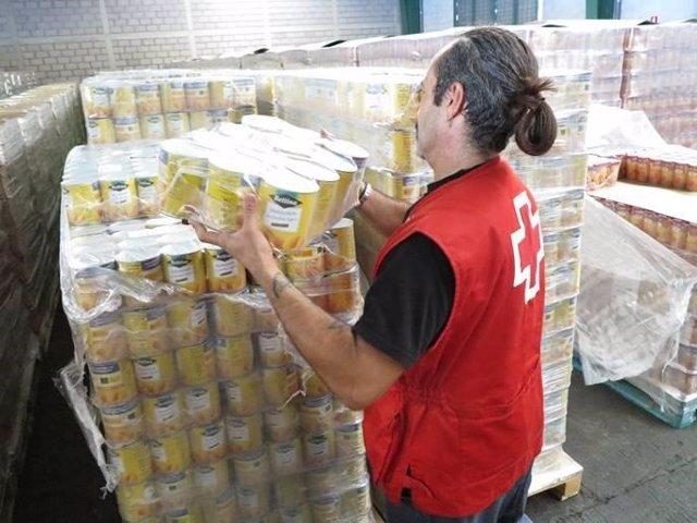 Distribución de alimentos de Cruz Roja