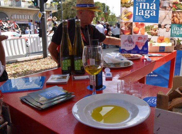 Estand de Sabor a Málaga en la Vuelta Ciclista a España