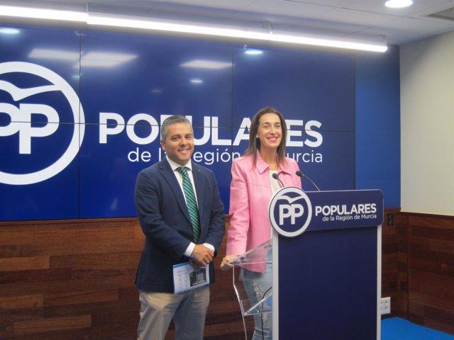 Jesús Cano y Nuria Fuentes, en la rueda de prensa