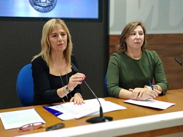 La concejala Marisa Ponga y la coordinadora de Fundación Mujeres, Goretti Álvare