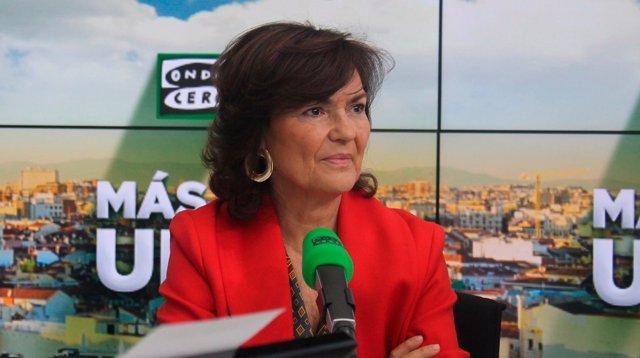 Entrevista en Onda Cero a la vicepresidenta del Gobierno, Carmen Calvo